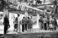 UCSC-05-006_1967_3_X_UC-Santa-Cruz-Photo-Collection_Alan-Chadwick-Group-Getting-Ready-for-Walk-to-find-Future-Garden-Site_photo-by-Eric-Thiermann