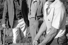 Alan Chadwick with Others in the Garden, 1972
